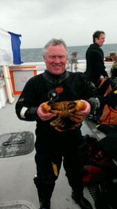 Brighton - John with a edible crab